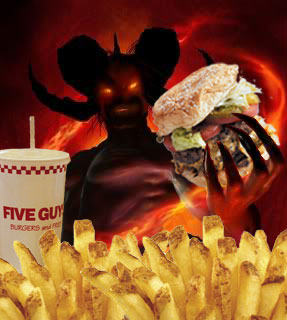 Five Guys Burgers and Fries Wants Your Soul!
